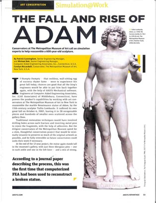 Collapse of Statue of Adam