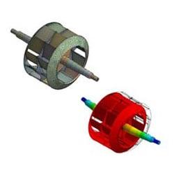 Industrial Impeller 3D Model