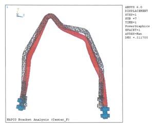 FEA Distortion Plot Mining Lift Hook
